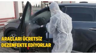 Malkara Akaryakıt İstasyonu Araçları Ücretsiz Dezenfekte Ediyor