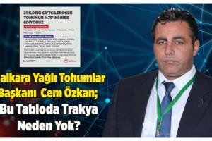 Malkara Yağlı Tohumlar Başkanı Cem Özkan'dan Büyük Tepki!