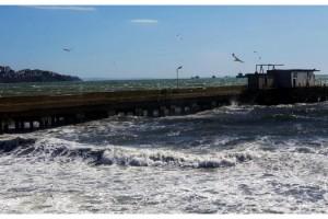 Marmara Denizi'nde fırtına etkili oldu