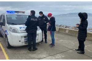 Sahilde yürüyüş yapan 3 kişiye biner lira ceza