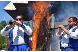 1400 yıllık Kakava ateşi sembolik yakıldı