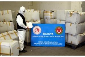 Kapıkule'de 573 bin tıbbi maske ele geçirildi