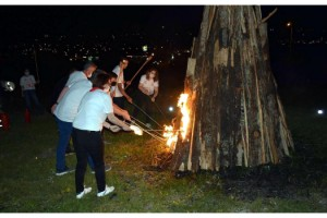 Lüleburgaz'da 19 Mayıs, 'Bağımsızlık Ateşi' yakılarak kutlandı