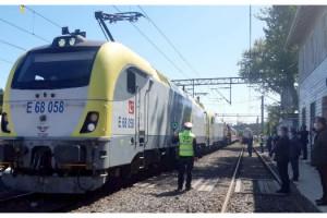 Marmaray'dan geçiş yapan ilk yurt içi yük treni Çorlu'da