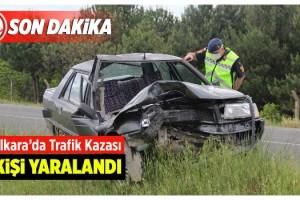 Otomobil Traktöre Arkadan Çarptı; 1 Yaralı