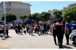 Polisle kısıtlamada alkol alanlar arasında arbede