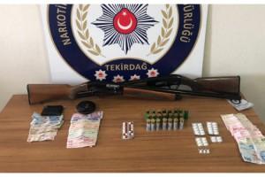 Tekirdağ'da uyuşturucu satan 4 şüpheli yakalandı
