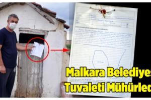 Malkara Belediyesi, köy evininin tuvaletini mühürledi!