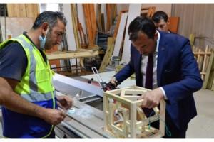 Süleymanpaşa İskelesinin aksesuarları belediye bünyesinde üretiliyor