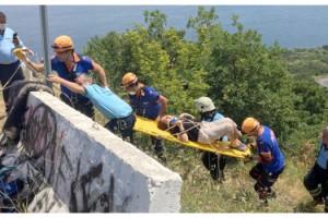 Tekirdağ'da Otomobil Uçurumdan Yuvarlandı; 2 Yaralı