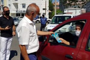 Babaeski Kaymakamı Elmacıoğlu, trafik denetimine katıldı