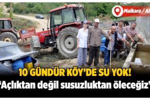Malkara'da köylüler, traktör ve araçlarla su taşıyor!