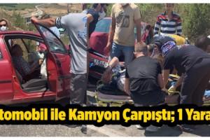 Malkara'da Otomobil ile Kamyon Çarpıştı; 1 Yaralı
