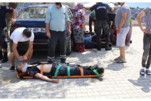 Jandarmaları taşıyan midibüsün freni boşaldı: 8 yaralı