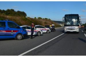 Jandarmadan yolcu otobüslerine koronavirüs denetimi