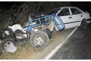 Malkara'da otomobille çarpışan ATV sürücüsü yaralandı