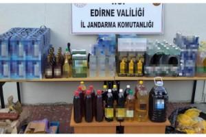 Moldova'dan gelen araçta kaçak içki ve et ele geçirildi