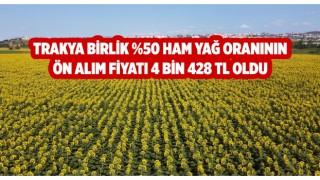 Trakya Birlik, ayçiçeği yeni ön alım fiyatını açıkladı