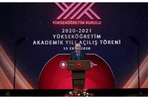 """Cumhurbaşkanı Erdoğan: """"En kısa sürede yükseköğretimde de yüz yüze eğitim öğretimi başlatmayı hedefliyoruz"""""""