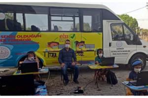 Şarköy'de gezici minibüsle EBA desteği
