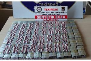 Tekirdağ'da 4 bin uyuşturucu hap ele geçirildi