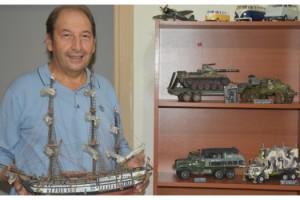 Atıklardan savaş gemileri ve askeri araçların maketini yapıyor