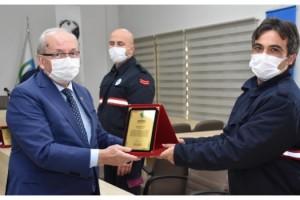 İzmir depreminde görev alan Tekirdağlı itfaiyecilere birer maaş ödül