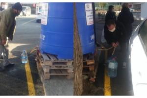 Keşan'da, günde 2 bin litre dezenfektan ücretsiz dağıtılıyor