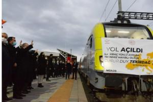 TBMM Başkanı Şentop, Avrupa'ya açılan ilk ihracat yük trenini Bulgaristan'a yolcu etti