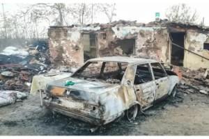 Yangında ev ve otomobil kullanılamaz hale geldi