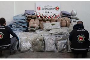 Gümrük Muhafaza Ekiplerince İpsala'da 257 kilogram esrar ele geçirildi