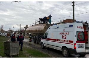 Kaynak yapılan tankerde oksijen tüpü patladı: 3 yaralı