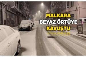Malkara'da Beklenen Kar Yağışı Başladı