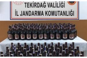 Malkara'da Piyasaya Sürülmek Üzere 165 Şişe Kaçak Viski Yakalandı
