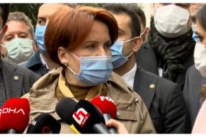 Meral Akşener, gazetecilerin sorularını yanıtladı