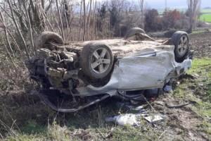 Takla Atan Otomobilden Yaralı Olarak Kurtuldu