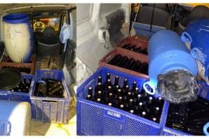Tekirdağ'da 120 litre sahte şarap ele geçirildi; 3 kişi gözaltında