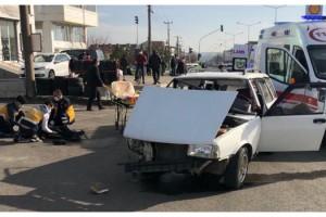 Tekirdağ'da 5 kişinin yaralandığı kaza kamerada