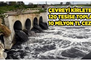 Tekirdağ'da çevreyi kirleten 120 tesise toplam 10 milyon TL ceza
