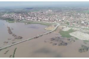 Ergene Nehri'nin alarm seviyesi 'turuncu'ya döndü