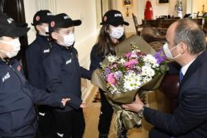 Minik AFAD gönüllülerinden Edirne Valisi Canalp'e ziyaret