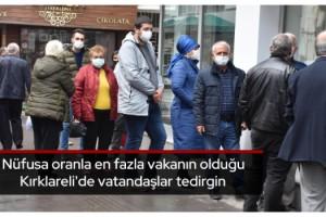 Nüfusa oranla en fazla vakanın olduğu Kırklareli'de vatandaşlar tedirgin