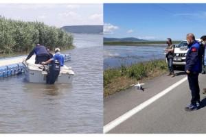 Gala Gölü'nde kaçak avlananlara dronlu denetim