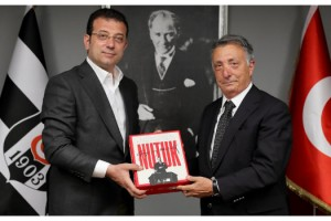 İmamoğlu ve Akpolat'tan Beşiktaş Kulübü'ne ziyaret