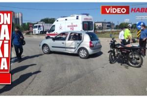 Malkara'da Motosiklet ile Otomobil Çarpıştı; 1 Yaralı