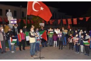 Tekirdağ'da sivil toplum örgütlerinden İsrail'e tepki