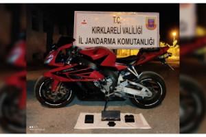 Kırklareli'de gümrük kaçağı motosiklet ele geçirildi
