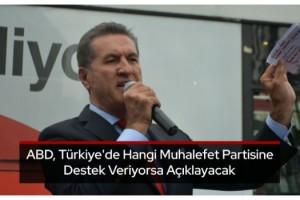 Sarıgül: ABD, Türkiye'de hangi muhalefet partisine destek veriyorsa açıklayacak
