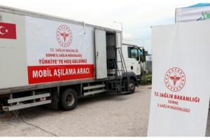 Kapıkule Sınır Kapısı'na 'gurbetçiler' için mobil aşı merkezi