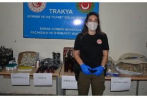 Kapıkule'de TIR stepnesine gizlenmiş 46 kilo uyuşturucu ele geçirildi